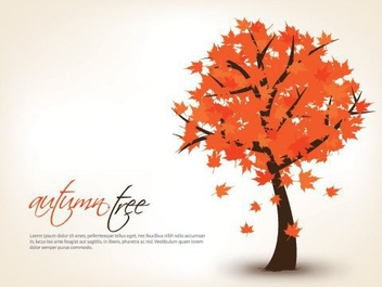 Autumn Tree - Free vector #215391