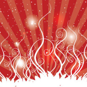 Swirls Red Background & Shinning Vector Design - бесплатный vector #215671