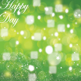 Happy Day Green Background Vector Graphic - Kostenloses vector #215741