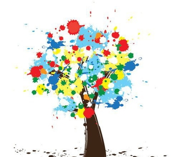 Colorful Tree - vector gratuit #216011