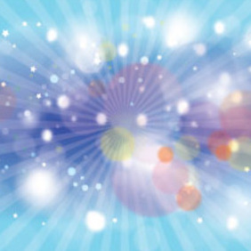 New Blue Colored Bubbles Vector Art - Free vector #216221