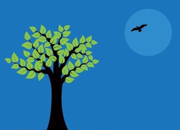 Night Tree - vector gratuit #216271