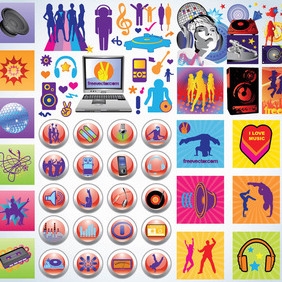 Party Icons - vector #216291 gratis