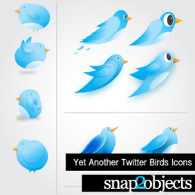 10 Vector Twitter Icons - Free vector #216451
