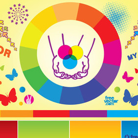 Colorful Vector Elements - Free vector #216551