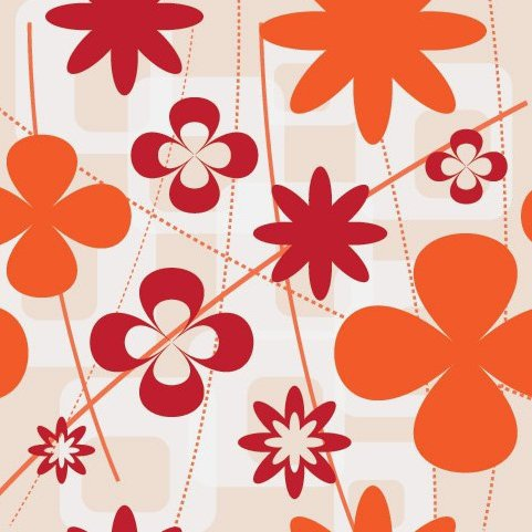 Fleurs de mur - vector gratuit #216581