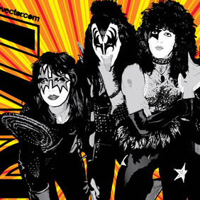 KISS Band - vector #216741 gratis