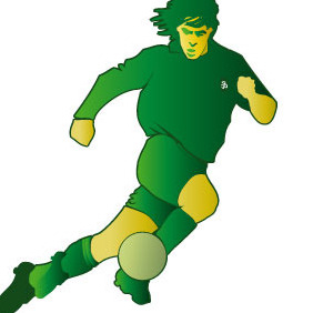 Soccer Player Vector Image - Free vector #216841