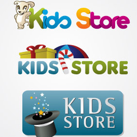 Kids Store Logo Pack - Free vector #217361
