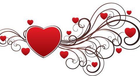Валентина сердце - бесплатный vector #217411