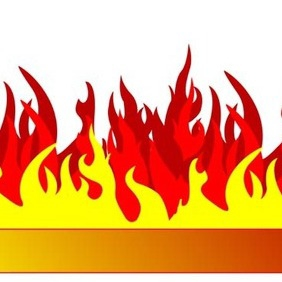 Burning Banner - vector gratuit #217601