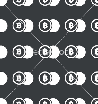 Free straight black bitcoin coin pattern vector - Kostenloses vector #217611