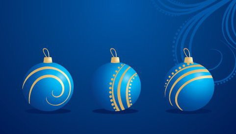 Christmas Decorations - Free vector #217631