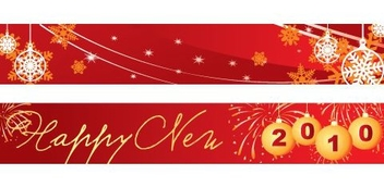 New Year Banners - vector gratuit #217671