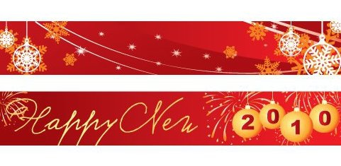 New Year Banners - Free vector #217671