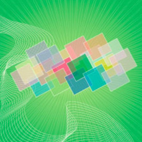 Green Abstract Square Vector Background - Free vector #217811