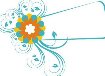 Frame and Flower - Free vector #218011