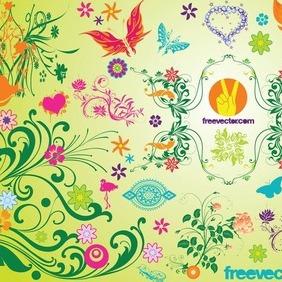 Spring Vectors - Free vector #218091