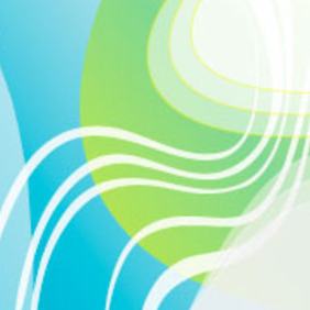 Blue Green Abstract Vector - vector gratuit #218201