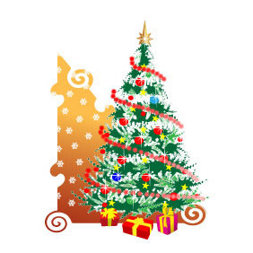 Christmas Tree Vector Image - Kostenloses vector #218491