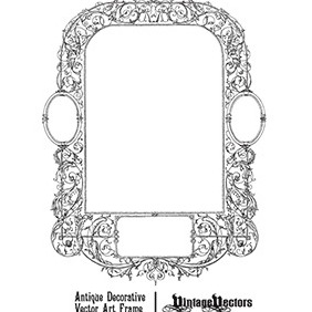 Antique Decorative Frame - Free vector #218641