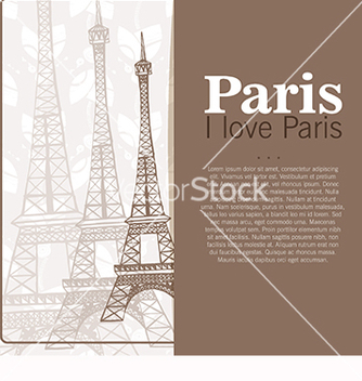 Free card to the eiffel tower vector - vector gratuit #218681
