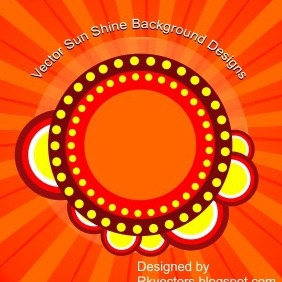 Vector Sun Shine Background Designs - vector #218701 gratis