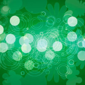 Green Floral Back Design - vector gratuit #218741