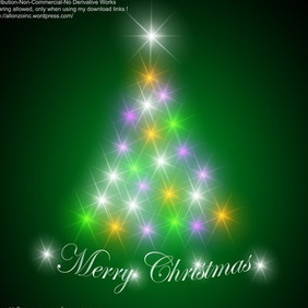 Abstract Christmas Tree Background - vector gratuit #218871