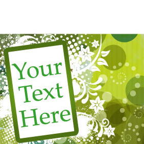 Abstract Vector Background With Text Box - Free vector #218901