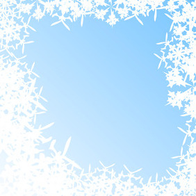 Blue Abstract Background With Snowflakes - vector gratuit #218921