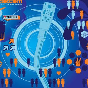 Techno Vector - Free vector #218991