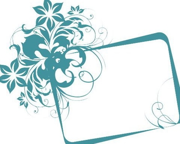 Turquoise frame - Free vector #219031