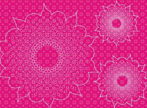 Pattern of flowers - Free vector #219101