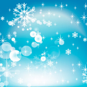 Blue Snow Design - Free vector #219391
