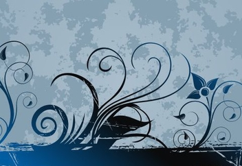 Blue swirls - vector gratuit #219411