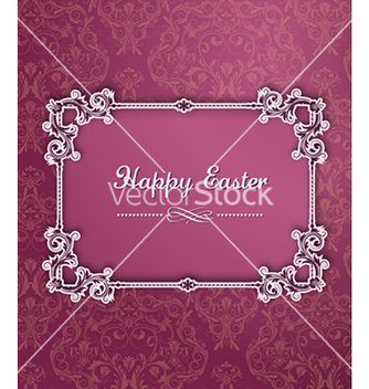 Free easter with floral frame vector - Kostenloses vector #219431
