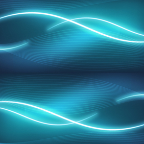Asbtract Blue Wavy Backdrop - vector gratuit #219441