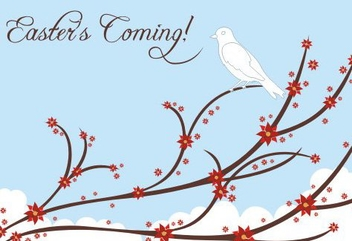 Easter coming - vector gratuit #219531