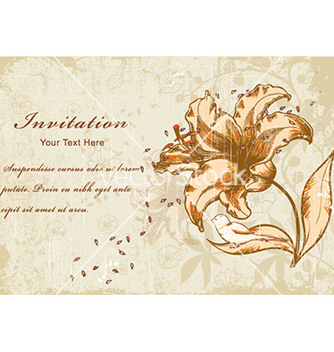 Free vintage floral background vector - Kostenloses vector #219541