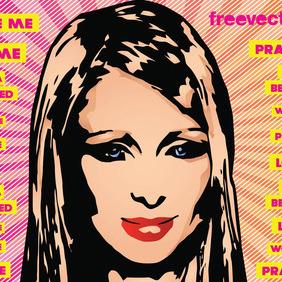 Paris Hilton Vector - vector #219711 gratis