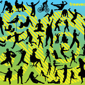 Active People - vector gratuit #219931