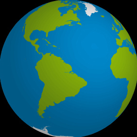 Planet Earth 3D Illustration - Free vector #219991