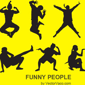 Funny People Vector Illustration - Free vector #220051