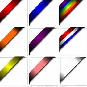 Corner Ribbons - Free vector #220061