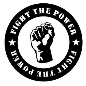 Fight The Power Vector Sticker - Free vector #220121