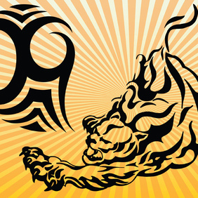 Tiger Power - vector gratuit #220161