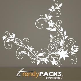 Floral Hand Drawn Vectors - Free vector #220251