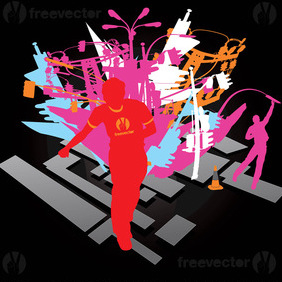Night City Art - Free vector #220301