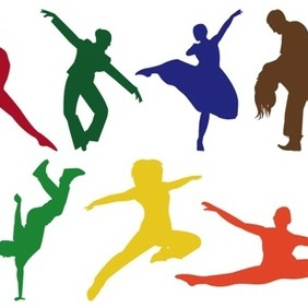 Dancing Silhouettes - Free vector #220371